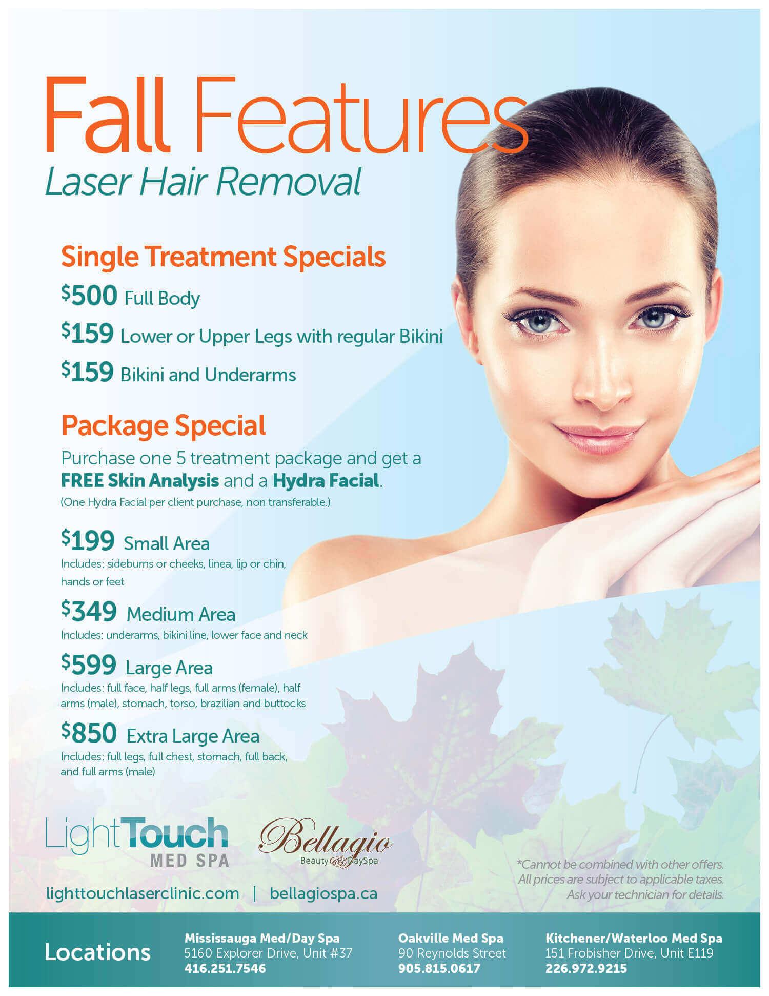 Med Spa Specials | Lighttouch Laser Clinic