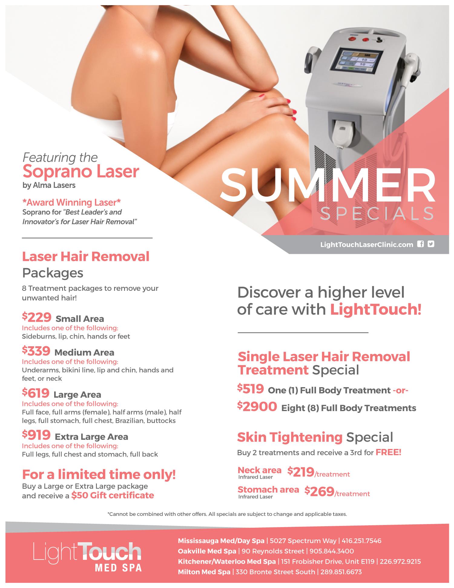 Med Spa Specials Lighttouch Laser Clinic